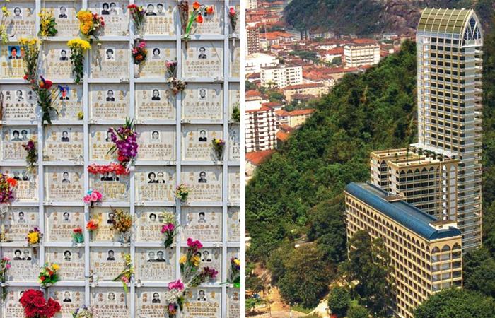 Вертикальные кладбища в разных странах мира.