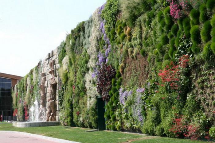 Огромный вертикальный сад на стенах итальянского торгового центра