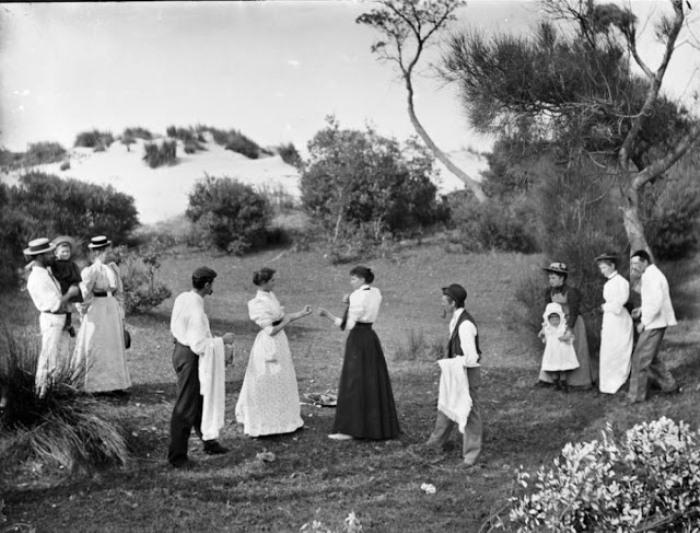 Женский поединок, Австралия, 1895 г.