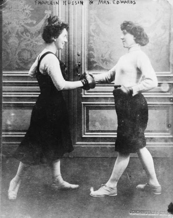 Женский спарринг в Австралии, 1911 г.