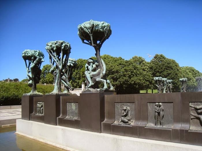Парк скульптур Вигеланда (Осло, Норвегия)