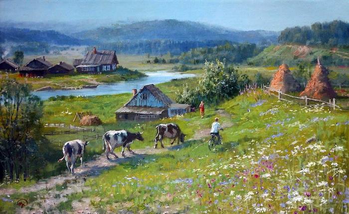 Идиллические пейзажи русской деревни
