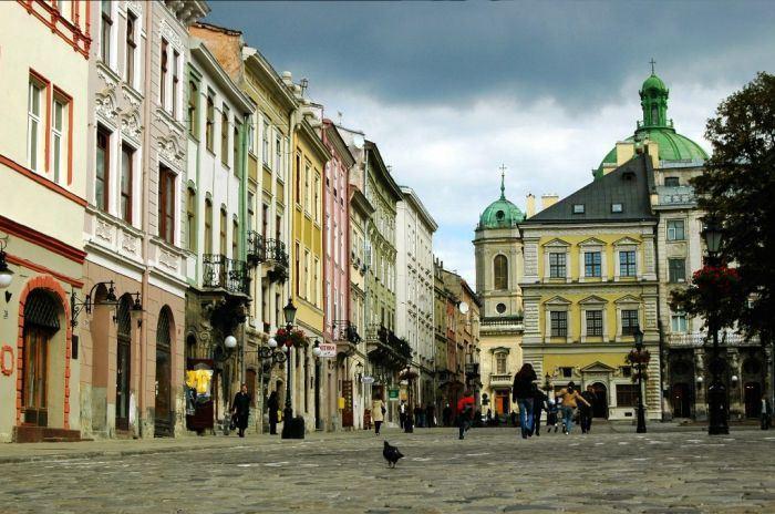 Площадь Рынок во Львове.