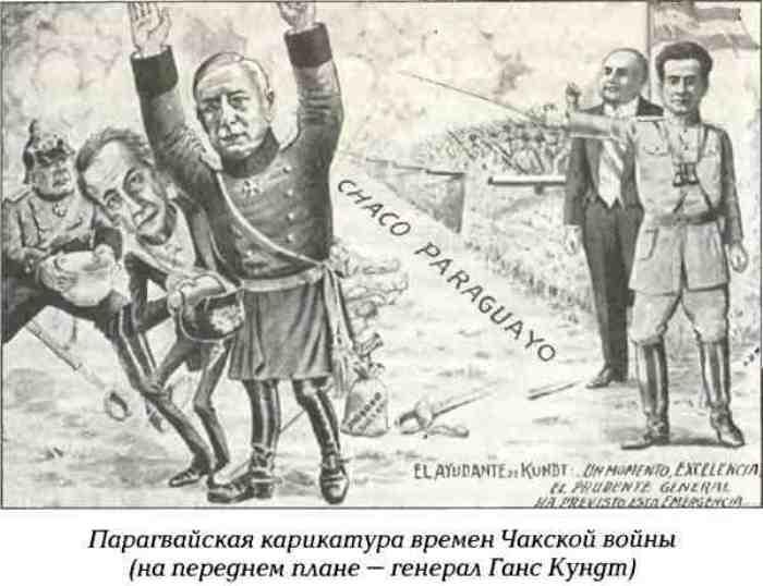 Карикатура времен Чакской войны. Фото: K2x2.info