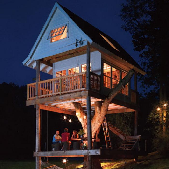 Трехэтажный дом на дереве