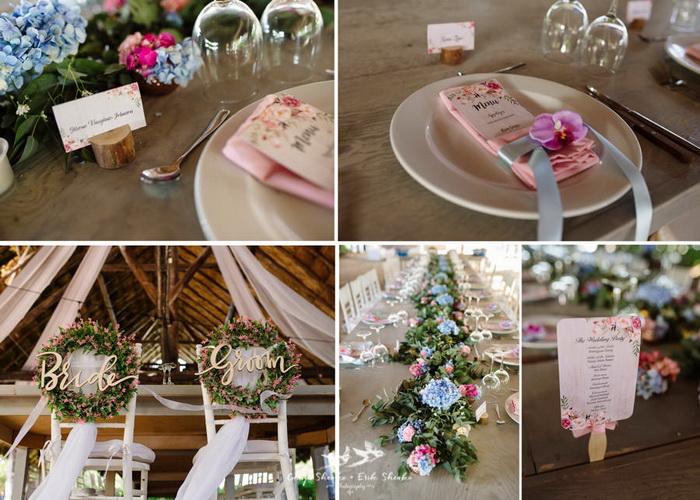 Свадьба в нежно-розовых тонах.