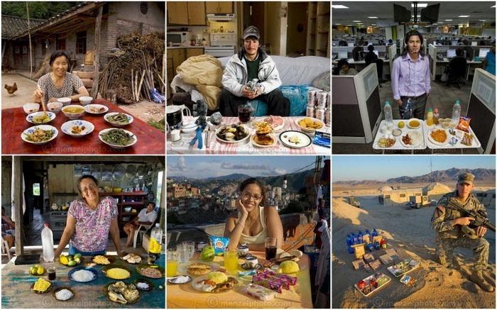 «Что я ем: Вокруг мира за 80 диет». Фотопроект от Питера Мензеля (Peter Menzel)