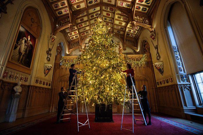 Рождественская елка в Виндзорском замке.