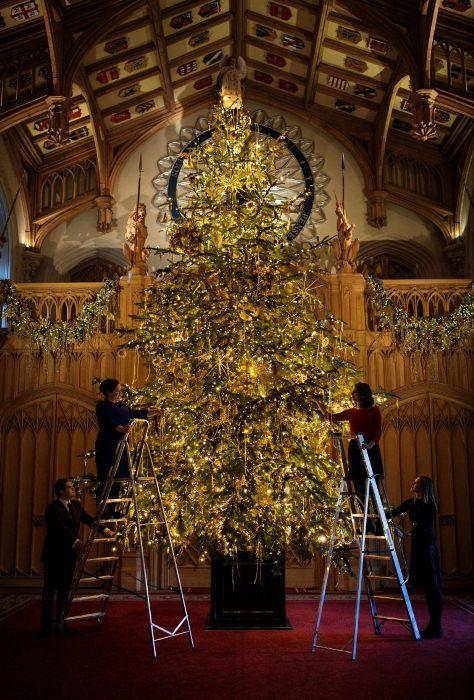 Рождественское дерево по традиции установили в Георгиевском зале.