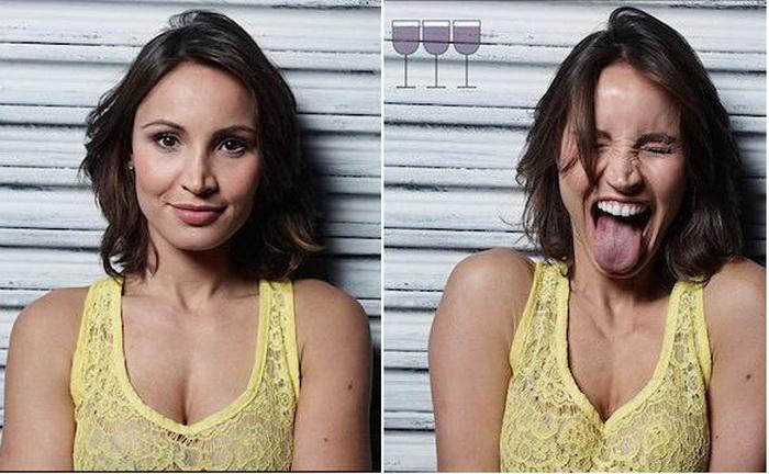 Три бокала спустя: портреты людей до и после употребления спиртного