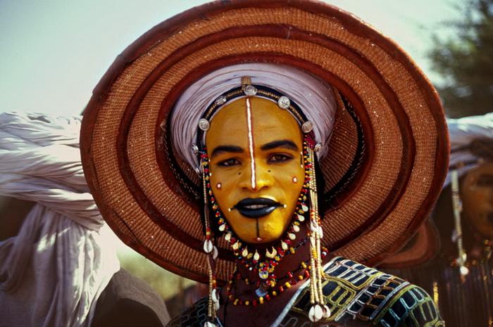 Конкурс красоты среди мужчин в племени Wodaabe (Нигер)