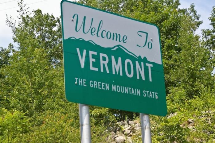 Въезд в Вермонт.