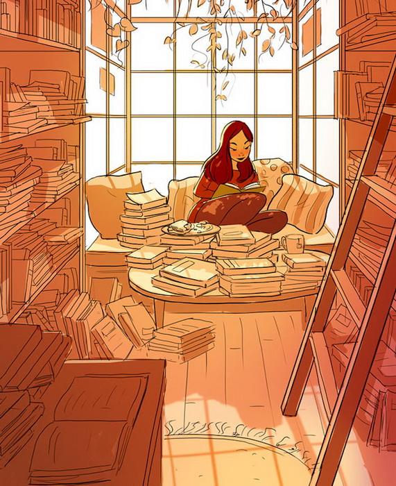 Осенние дни с книгой в руках.