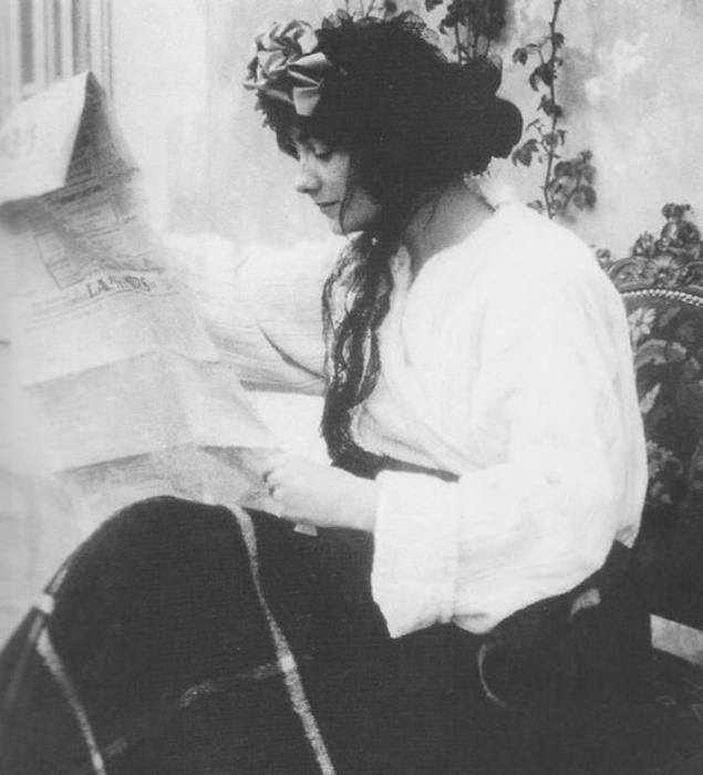 Коко Шанель в молодости.