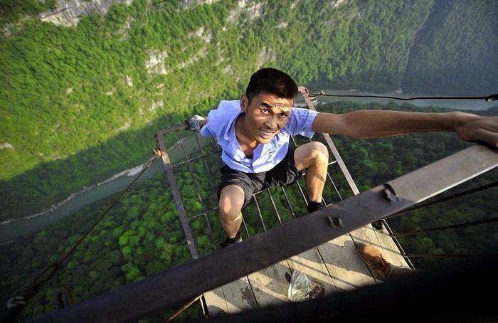 Канатная дорога в китайской провинции