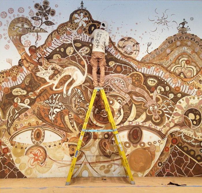 Фрески, нарисованные грязью. Творчество Юсуке Асаи (Yusuke Asai)