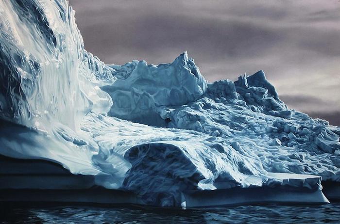 Zaria Forman в своем творчестве размышляет над проблемой глобального потепления