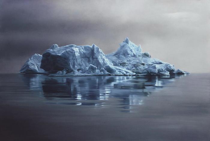 Рисунки в защиту окружающей среды: арктические ледники на картинах Zaria Forman