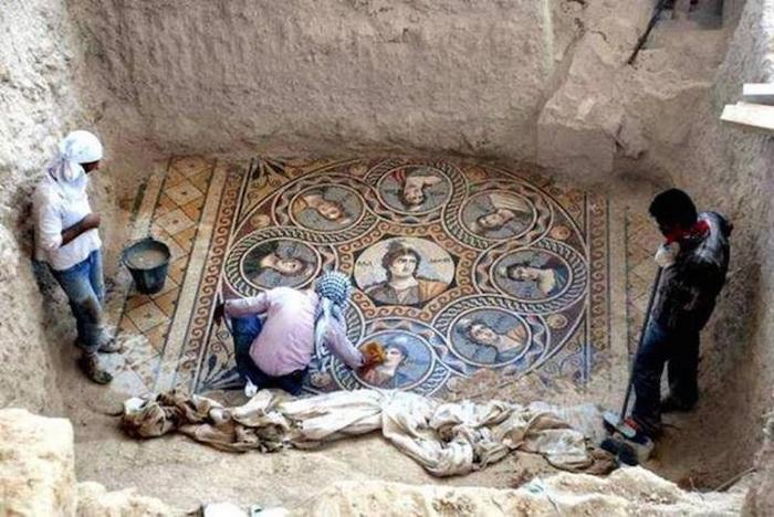 Греческие мозаики в турецком городе Зевгма
