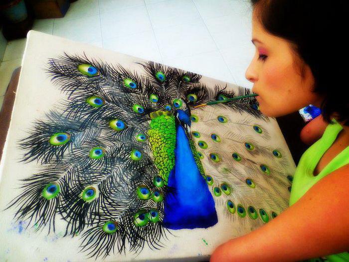 Zuly Sanguino - колумбийская художница без рук