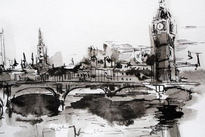 Лондон. Графические Пейзажи Елены Ковалевой