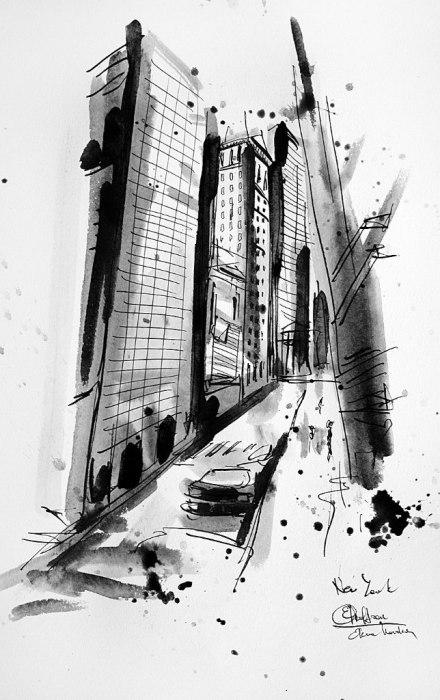Нью-Йорк. Графические Пейзажи Елены Ковалевой
