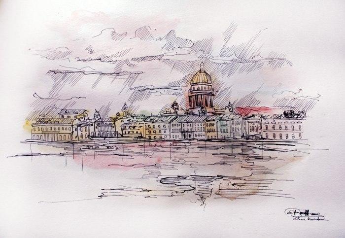 Санкт-Петербург. Графические Пейзажи Елены Ковалевой