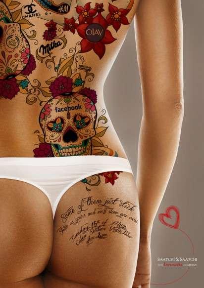 Saatchi & Saatchi Lovemarks узнают человека по тату