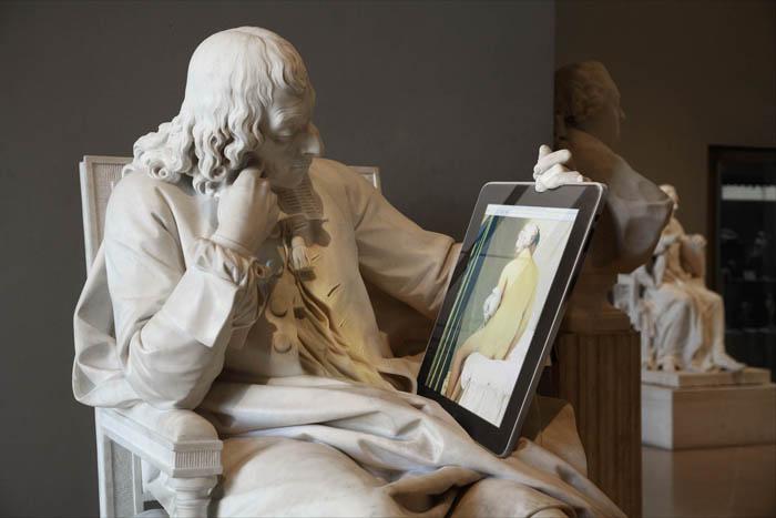 Памятники искусства и современные технологии в работах Лео Келларда из серии Art Game