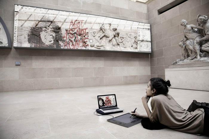 Фото из серии Art Game, посвященной вопросу, что произойдет с искусством в будущем