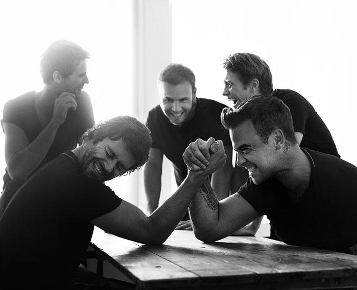 Фото группы *Take That* для Q Magazine (2010). Фотограф Брайан Адамс