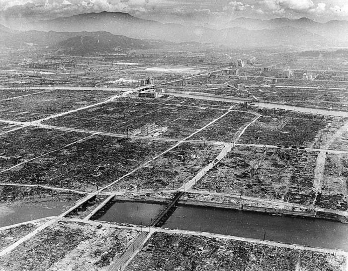 Хиросима, разрушенная атомной бомбой