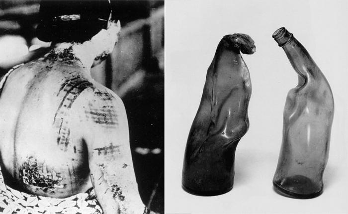 Световая волна от ядерного взрыва плавит и кожу и стекло