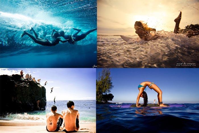Тихий океан и сёрфингисты на подводных фотографиях Сары Ли