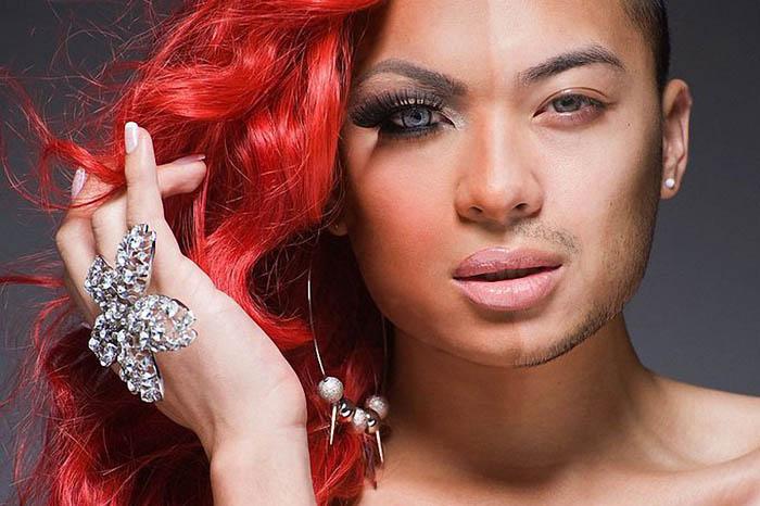 Фото трансвестита, позирующего Лиланду Боббу