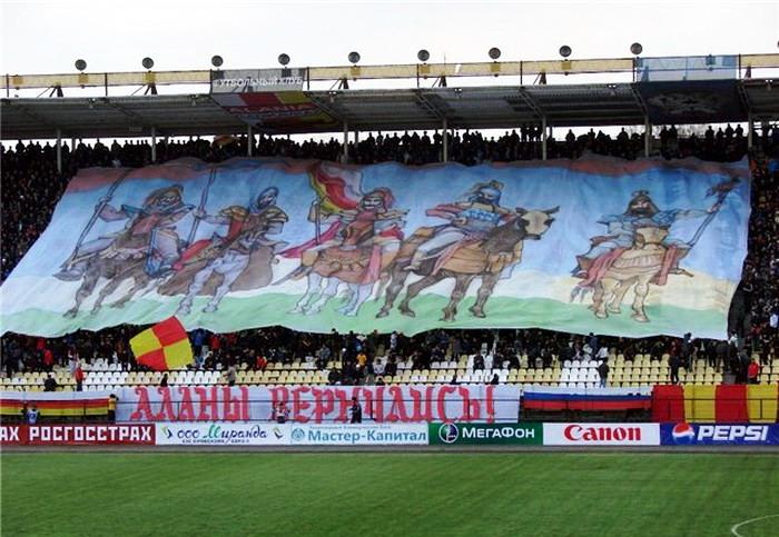 Футбольный матч Алания (Владикавказ) - Сатурн (Раменское). Владикавказ, 2010 год.