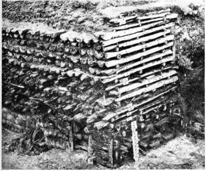 Такой новгородский «пирог» увидели археологи.