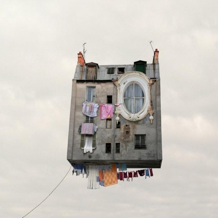 Летающие здания Лорана Шейе