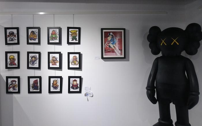 На выставке Street Fighter-арта