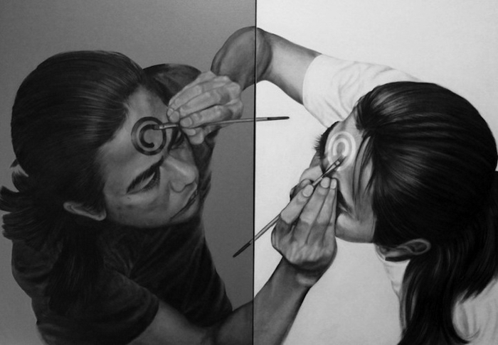 Veri Apriyatno рисует сам себя