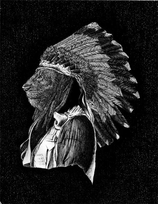 Рисунок пером Майкла Дениколы