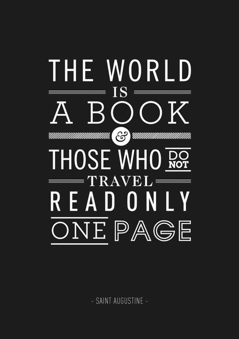 Постер Бена Фирли с цитатой из Августина