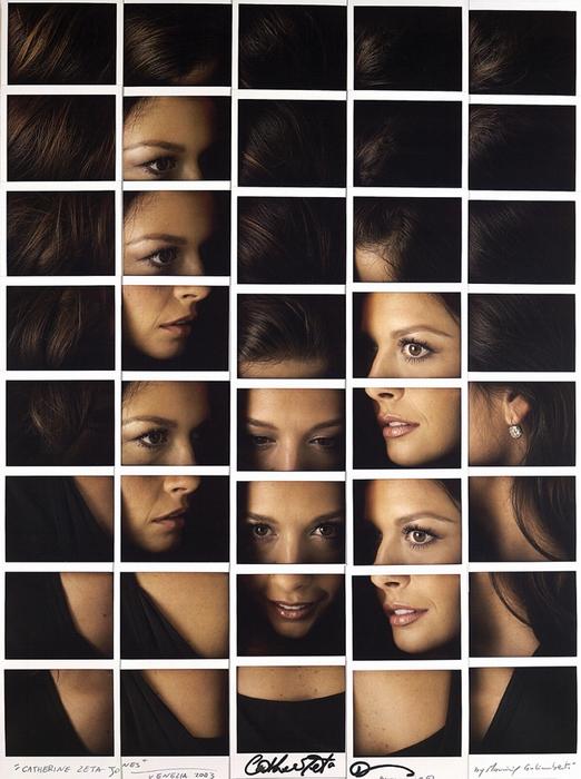 Кэтрин Зета-Джонс. Портрет-мозаика