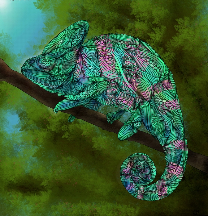 Абстрактный хамелеон