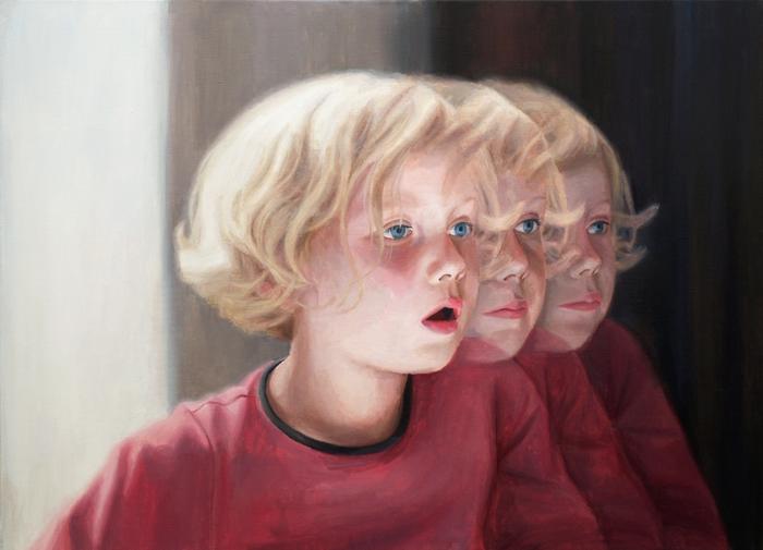 Детский портрет работы Deenesh Ghyczy