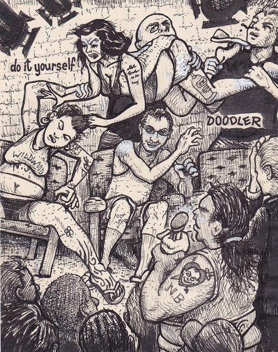 Еще один Doodler Дэвида Джеблоу