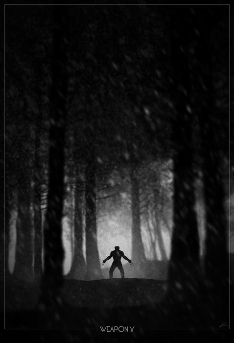 Росомаха в цикле Superhero Noir Posters