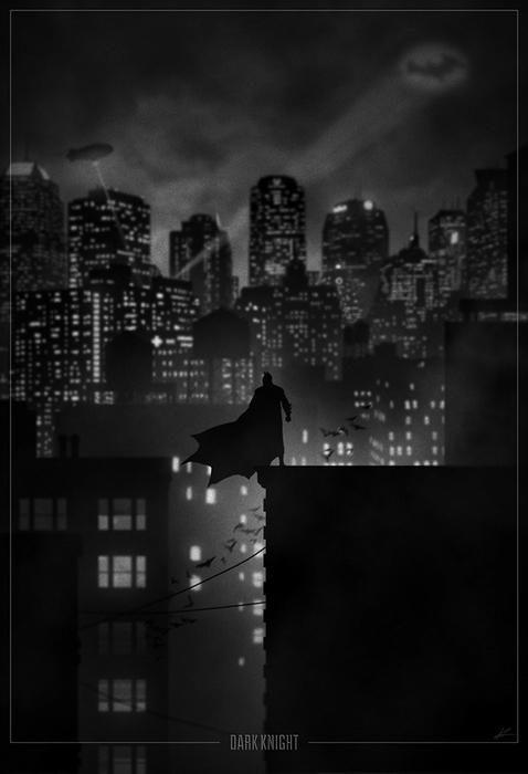 Бэтмен. Рисунок Marko Manev