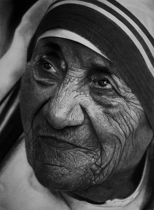 Мать Тереза, рисунок Кевина Окафора