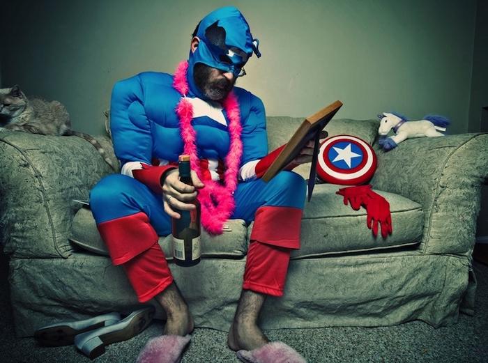 Everyday Occurances of Aging Superhero